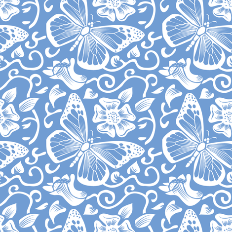 Fluttering Chambray fabric by dianne_annelli on Spoonflower - custom fabric