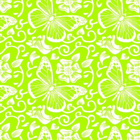 Fluttering Citron fabric by dianne_annelli on Spoonflower - custom fabric