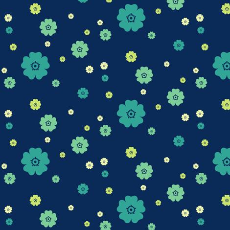 Flowery - Night Falls Softly - © PinkSodaPop 4ComputerHeaven.com fabric by pinksodapop on Spoonflower - custom fabric