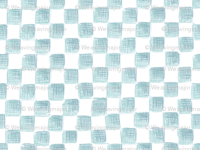 Bowditch's blue squares on plane white
