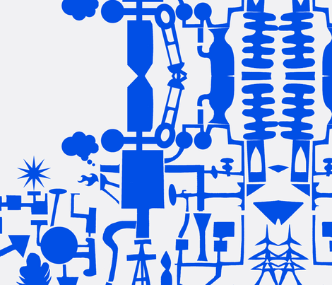 Contrary Power Plant fabric by boris_thumbkin on Spoonflower - custom fabric