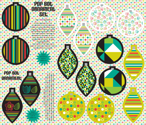 pop bot ornament set fabric by modgeek on Spoonflower - custom fabric
