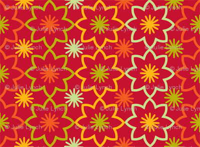 Flower star red