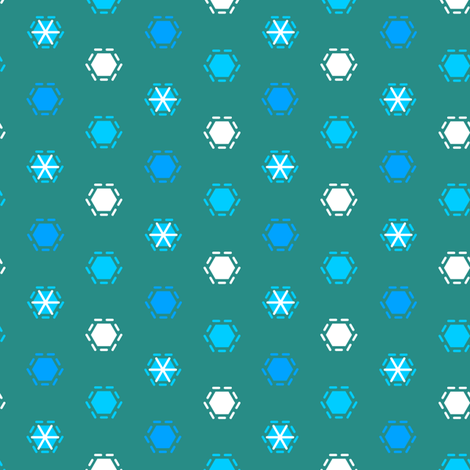 Tilkkutakki (Cool Colours) H fabric by nekineko on Spoonflower - custom fabric