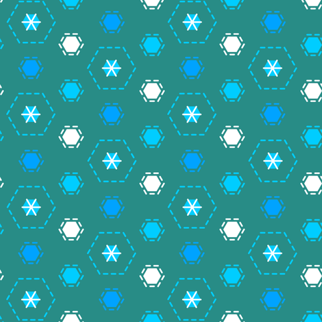 Tilkkutakki (Cool Colours) J fabric by nekineko on Spoonflower - custom fabric