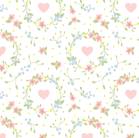 ditsy flower circles fabric by signora_aurora on Spoonflower - custom fabric