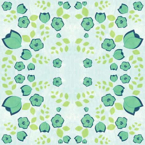 Flowery Reflections - Night Falls Softly - © PinkSodaPop 4ComputerHeaven.com fabric by pinksodapop on Spoonflower - custom fabric
