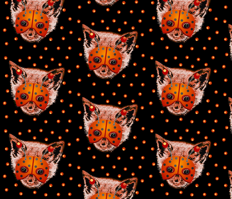 hallo_kitty_dot fabric by paragonstudios on Spoonflower - custom fabric