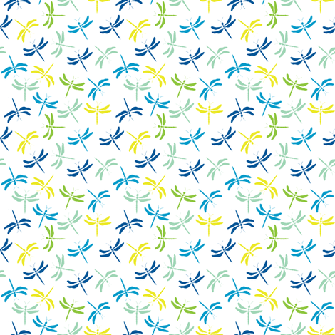 dragonfly meadow  fabric by wednesdaysgirl on Spoonflower - custom fabric