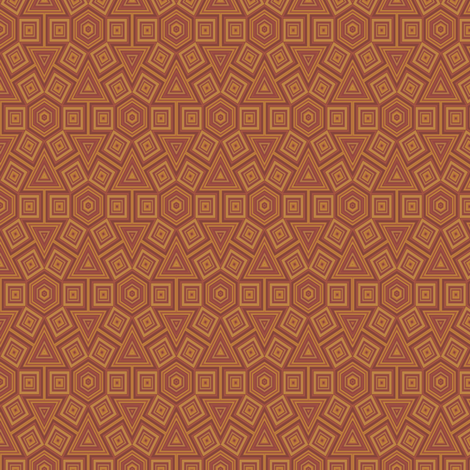 Hexagon Terracotta Tiles  fabric by gingezel on Spoonflower - custom fabric