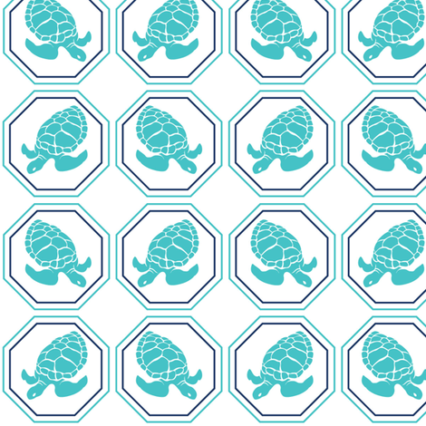 Turquoise Turtles fabric by colorthetree on Spoonflower - custom fabric