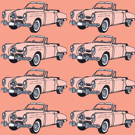 1950 Studebaker convertible  fabric by edsel2084 on Spoonflower - custom fabric