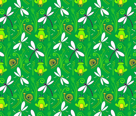 Swamped! - color corrected fabric by havemorecake on Spoonflower - custom fabric