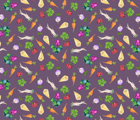 square roots small on Hypatian violet fabric by weavingmajor on Spoonflower - custom fabric