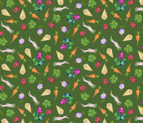 square roots small on Avogadro green fabric by weavingmajor on Spoonflower - custom fabric