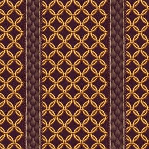 Chain Link Stripe - Plum Gold