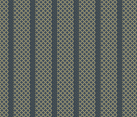 Chain LInk Stripe - Cadet and Khaki fabric by glimmericks on Spoonflower - custom fabric