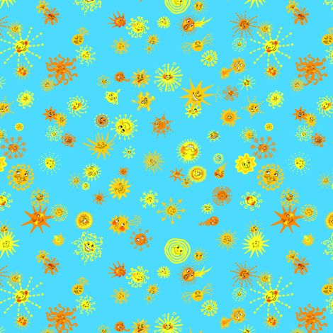 SunshiningCompetition fabric by tallulahdahling on Spoonflower - custom fabric