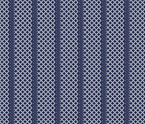 Chain LInk Stripe - Navy White fabric by glimmericks on Spoonflower - custom fabric