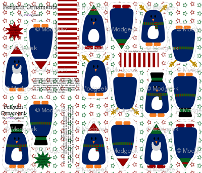 holiday penguin ornaments