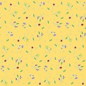 Yellow Ditsy Print