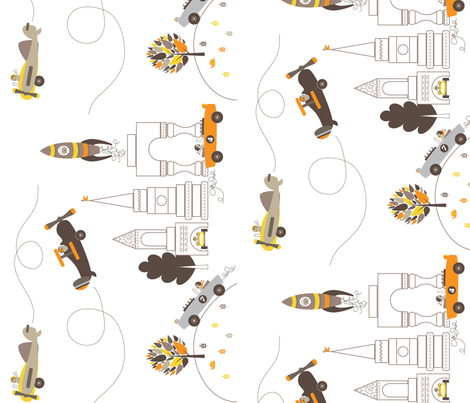 Les Monsieurs en Ville fabric by kayajoy on Spoonflower - custom fabric