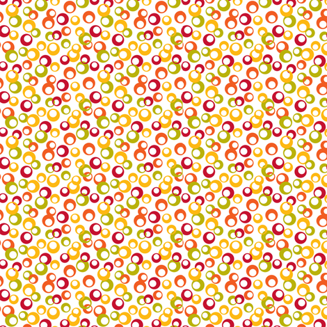 Open dot ditsy fabric by cjldesigns on Spoonflower - custom fabric