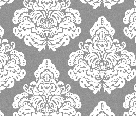 damaskPrint9 fabric by caramae on Spoonflower - custom fabric