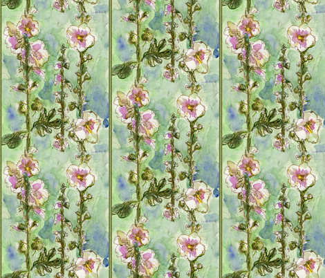 Gentle Mallow by Alexandra Cook aka Linandara fabric by linandara on Spoonflower - custom fabric
