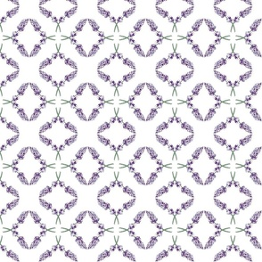 Lavender diamond criss-cross