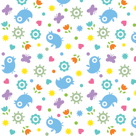 Ditsy fun fabric by andibird on Spoonflower - custom fabric