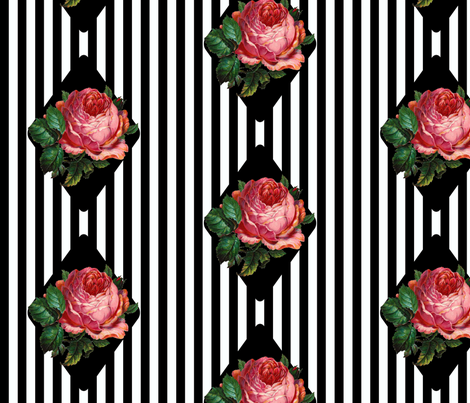 Black 'n' Rose fabric by glanoramay on Spoonflower - custom fabric
