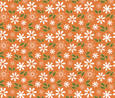 orange bloom coordinating fabric by emilyb123 on Spoonflower - custom fabric