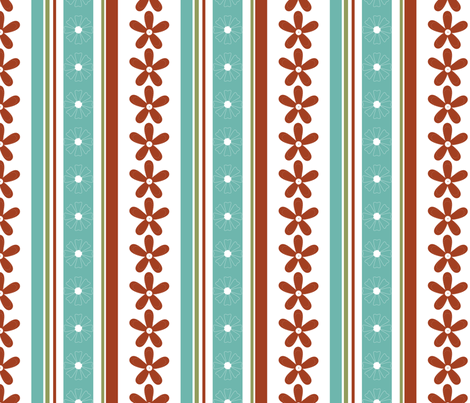 Daisy_Stripe fabric by christiem on Spoonflower - custom fabric