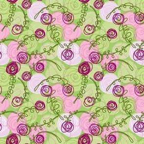 Ditsy Confetti Roses