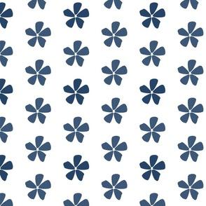 Daisy Dots Navy