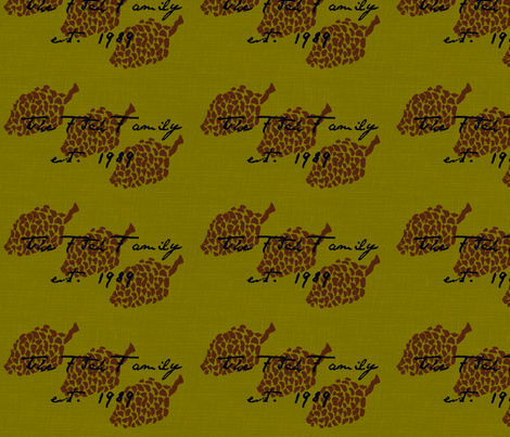 pinecone crest fabric by t_t_ on Spoonflower - custom fabric