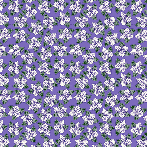 trilliated in lavender fabric by glimmericks on Spoonflower - custom fabric