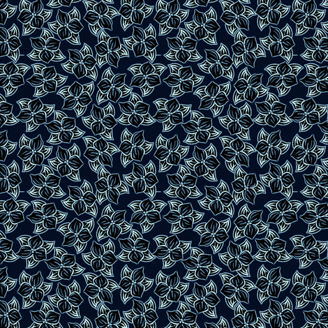 trilliated in blue fabric by glimmericks on Spoonflower - custom fabric