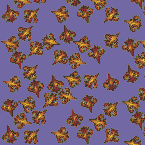 fleurdelis_confusion_reigns fabric by glimmericks on Spoonflower - custom fabric