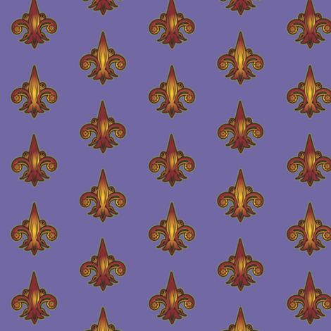 fleurdelis_reigns_supreme fabric by glimmericks on Spoonflower - custom fabric