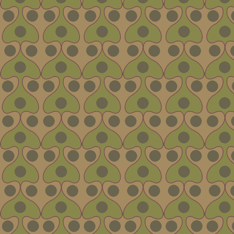 Mushroom (Moss) fabric by david_kent_collections on Spoonflower - custom fabric