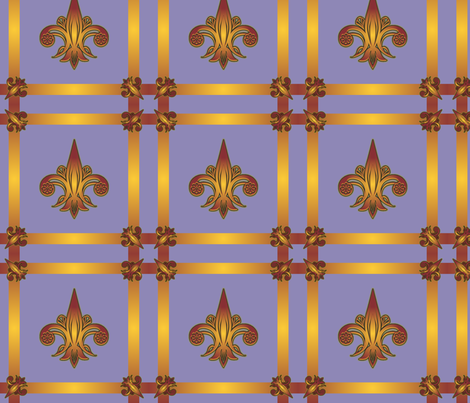fleurdelis_plaid fabric by glimmericks on Spoonflower - custom fabric