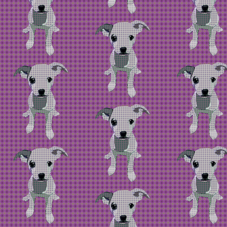 Durga The Chihuahua (Purple) fabric by david_kent_collections on Spoonflower - custom fabric