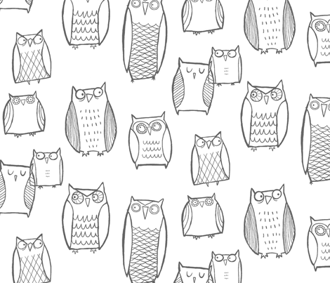 """Little"" Night Owl  fabric by leanne on Spoonflower - custom fabric"