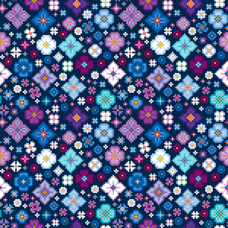 Digitsy fabric by leighr on Spoonflower - custom fabric