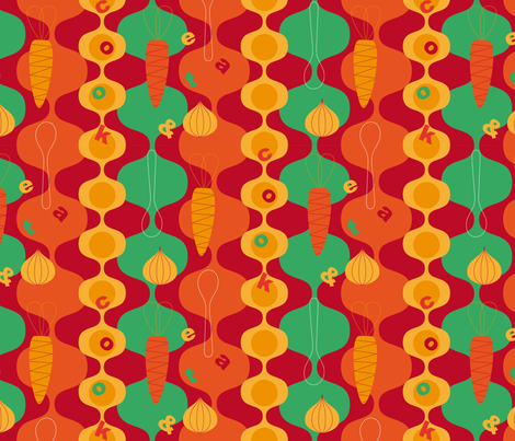 cook-eat fabric by decografie on Spoonflower - custom fabric