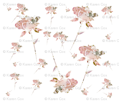 Shabby Chic Roses in a Pink Garden