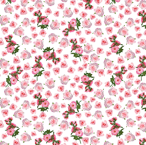 Roses, roses, everywhere fabric by bargello_stripes on Spoonflower - custom fabric