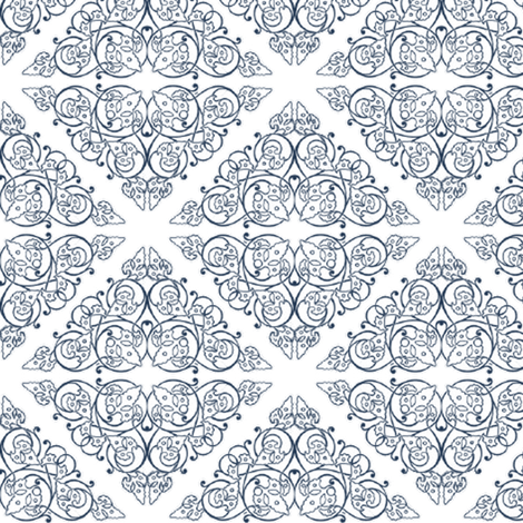 Indigo Medallion fabric by christiem on Spoonflower - custom fabric